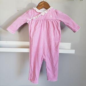 Ralph Lauren 9M Pink Stripe Playsuit / Pajamas